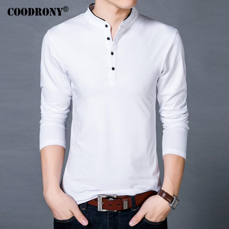 COODRONY T-Shirt Men 2017 Spring Autumn s