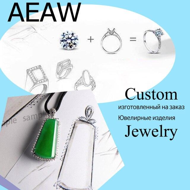 Custom Sieraden van orde AEAW 7ct Radiant Cut Moissanite Engagement Ring 1.60ct Biljoen Moissanites Ring Solid 14 k W Gold-in Ringen van Sieraden & accessoires op  Groep 1