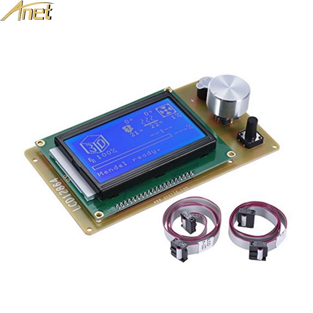 Anet A6 A2 3D Printer 12864LCD Smart Display Screen Controller Module for RAMPS 1.4 Arduino Mega Pololu Shield Arduin