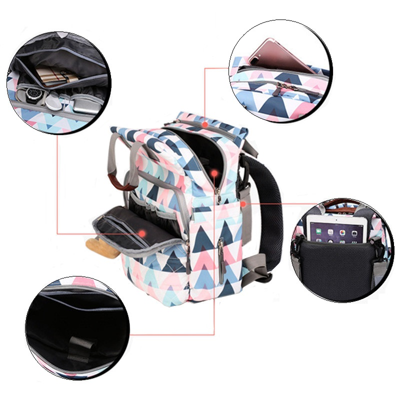 Mummy Backpack Large Capacity Maternity Nappy Baby Diaper Travel Tote Designer Nursing Nappy Stroller Bag For Mom's Baby Care