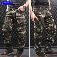 Multi pockets male pants jogger hombre Military style summer men cargo casual army pantalon homme sweat men7xl