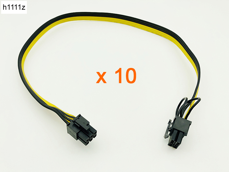 PCI Express Power Adapter Cable for Graphic 12Pcs PCIe 6Pin to 8-Pin 6+2Pin