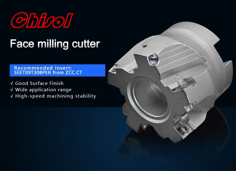 цены  free shipping high quality Indexable milling cutter milling tools face cutter FMP02-050-A22-SE09-05 mached insert SEET09T308PER
