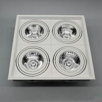 Dimmable 15W 2X12W 4X12W LED COB Ceiling Downlight 2700K 6000K Warm White White Cool White LED Downlights AC85V 265V