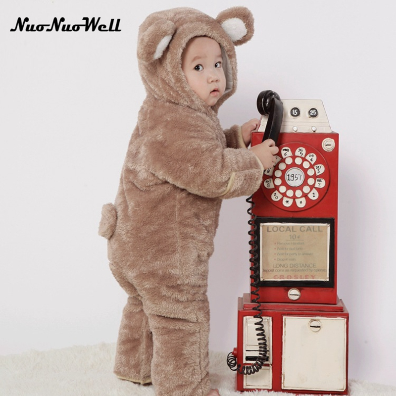 Newborn Infant Baby Romper Winter Infant Girl Cute Bear Boy Baby Bear Romper Kid Jumpsuit Clothing Newborn Baby Autumn Romper spring baby romper infant boy bear romper newborn hooded animal clothes toddler cute panda romper kid girl jumpsuit baby costume