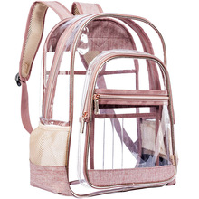 Transparent Bag Woman 2019 Joker Jelly Package Concise Both Shoulders Pvc Handbag