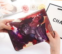 King Glory Game Cartoon Print Stand Soft TPU PU Leather Skin Protector Shell Cover Case For