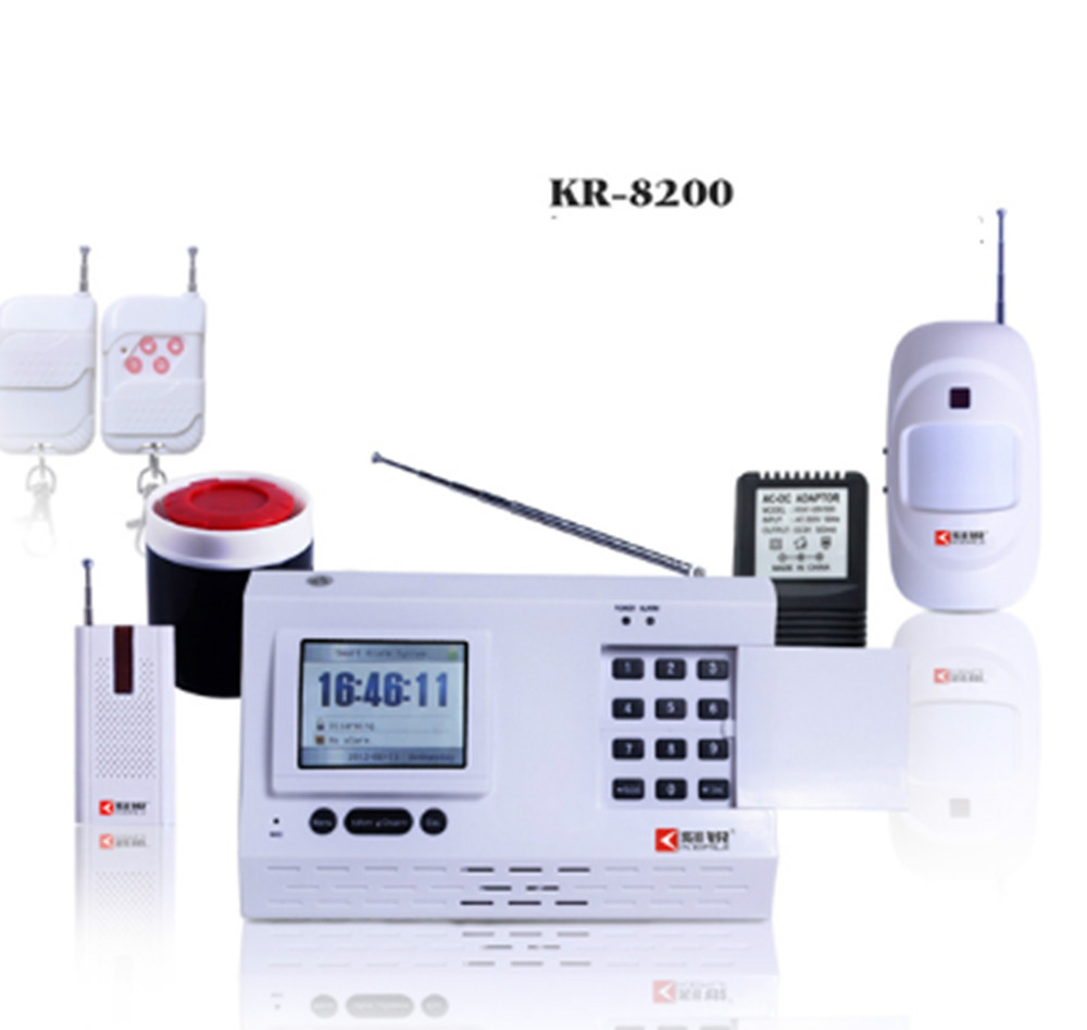 PSTN+CID Large LCD Display Burglar Alarm System el cid