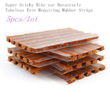 hot sale 5 units Super Sticky Bike car Motorcycle Tubeless Tyre Repairing Rubber Strips Tire Repair Strip Sealer