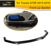 12 13 Pormotional Carbon Fiber Front Bumper Lip Car Spoiler Without Holes Fits 12 13 GT86