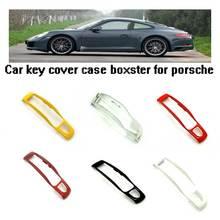 Smart Key центр ближнего отделкой Shell Обложка Наклейка для Porsche 911 918 Panamera Macan Cayenne Cayman Boxster