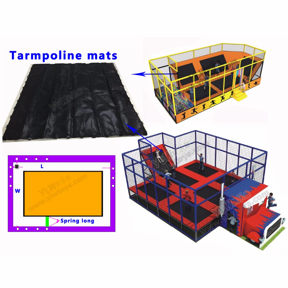 pritaikytas dydis batutas tinklas, sporto sporto batuto kilimėlis, šokinėja lova net 1,5 * 2m