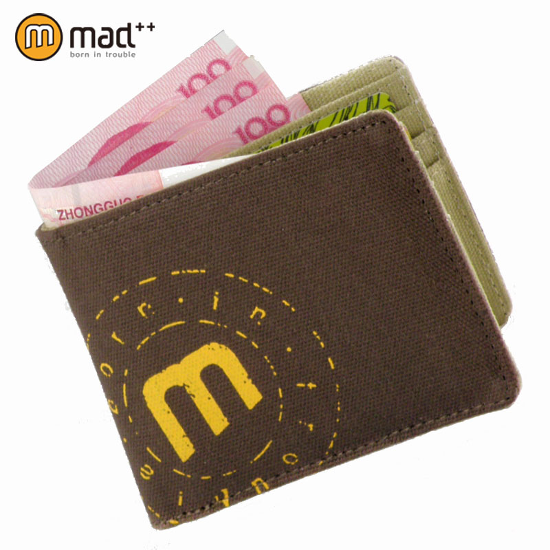 new bifold men's male casual canvas wallet purse handmade vintage retro boy student women girl teenage coin case pocket pouch