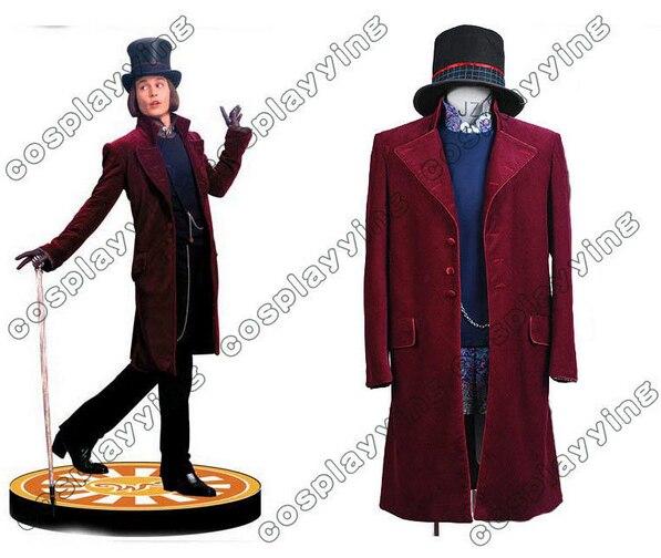 Neue Ankunft Willy Wonka Charlie und die Schokolade Fabrik Johnny Depp Cosplay...