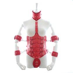 Volwassen Producten Leather Cincher Corset Body Bondage Seksuele Speelgoed Arm Manchetten Handboeien Hals Kraag Harnas Sex Fetishs Speelgoed