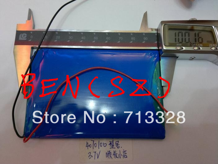 Size <font><b>4070100</b></font> 3.7V 4000mah Lithium polymer Battery For Tablet PCs PDA Diital Products image