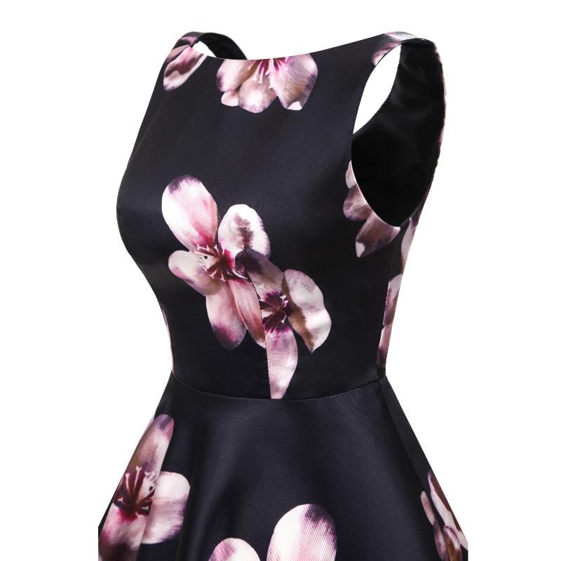 W.JOLI korte avondjurken O-hals bloemen Bloemenprint prom dresses - Jurken voor bijzondere gelegenheden - Foto 4