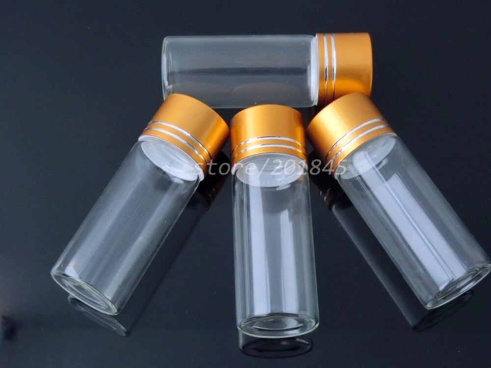 24Pcs 25ml Empty Glass Bottles With Aluminium Screw Golden Cap DIY Clear Transparent Glass Jars Containers Vials DC 27mm