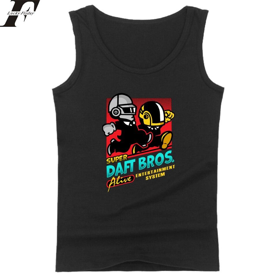 Daft Punk   Tank     Tops   Men/Women Workout Fit   Tank     Top   Size XXS To 4XL Casual Vest Electric Music Band Summer Sleeveless