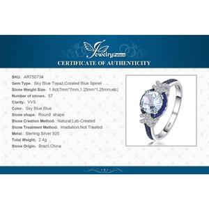 Image 5 - Jewelrypalace Echt Blauw Spinel Topaz Ring 925 Sterling Zilveren Ringen Voor Vrouwen Engagement Ring Zilver 925 Edelstenen Sieraden