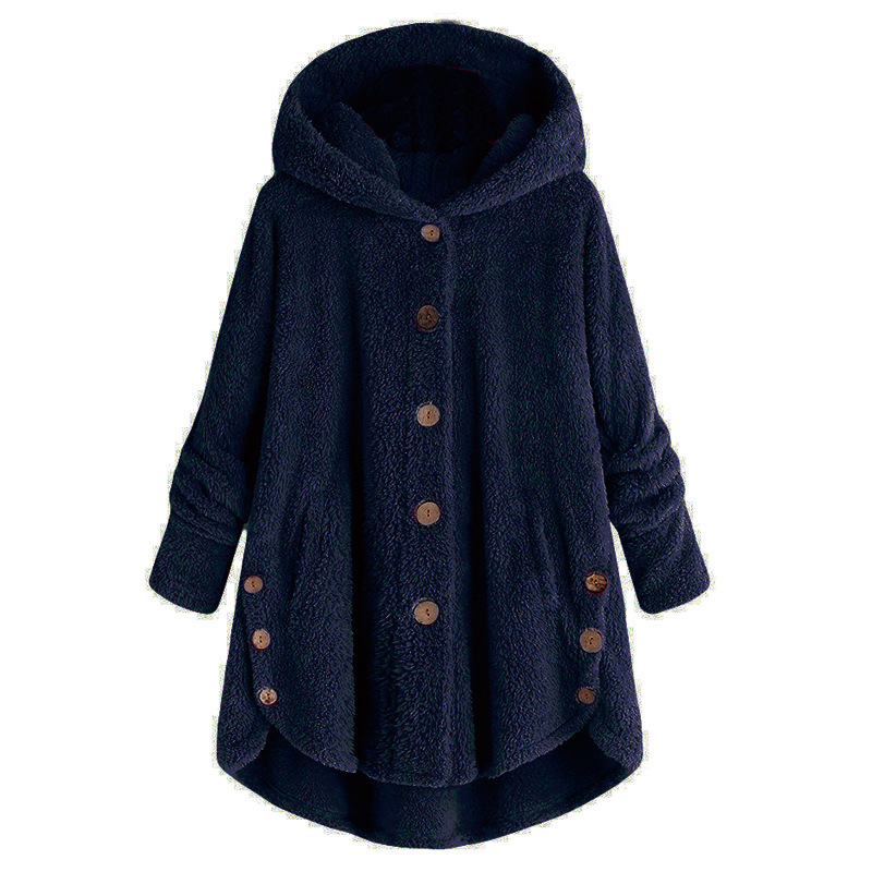 2018 Best selleAutumn Winter Warm Casual Fleece Hooded Coat Female Loose Fit Soft Furry Warm Jacket Winter Hoody Plus Size S-5XL