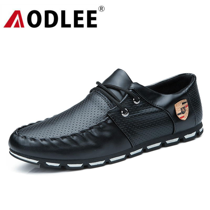 AODLEE Mens Shoes Casual 2019 Fashion Spring Soft Moccasins Men Loafers Leather Shoes Men Flats Casual Shoes Walking Sneakers