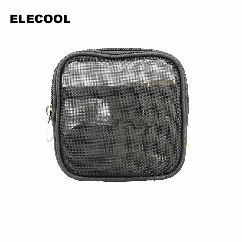 elecool 1pc women cute makeup cosmetic bag easy carry compact travel wash bag black dustproof toiletries bag
