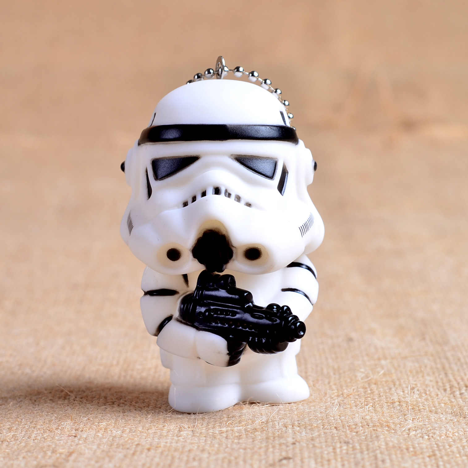 2016 Star Wars 7 Llavero de muñeca Linda Darth Vader Storm Trooper acción minifigura Llavero regalo de juguete de lujo para amigo Llavero ZKSD