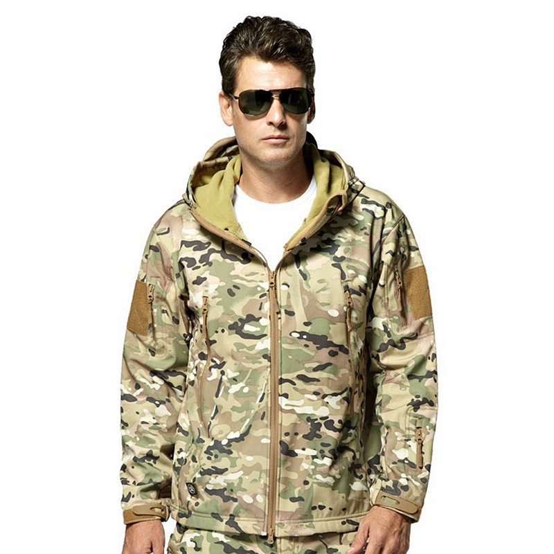 Outdoor Fishing Lurker Shark Skin Soft Shell TAD Military Tactical Jacket Waterproof Windproof Hunt Camouflage Army Clothing