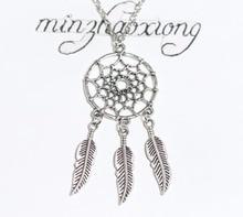 Dream Catche Necklaces For Women Fashion Jewelry Dreamcatcher Leaves Pendant Necklace Choker Collier Bijoux Vintage