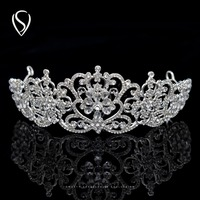 CLEARANCE SALE Royal Crystal Crown Princess Tiara Bridal Headpieces Women Hair Jewelry Accessories For Wedding Pageant