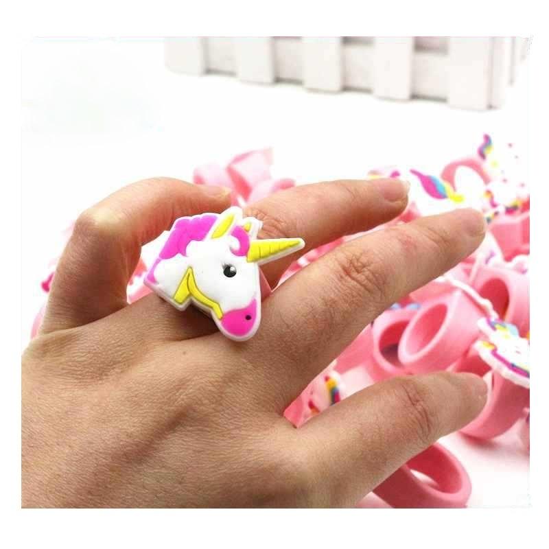 New Arrival Fashion Hot Sale Silicone Unicorn Rings Pvc