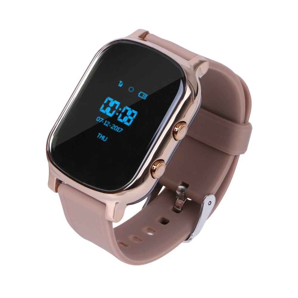 Montre Smart Watch GPS Tracker Enfants T58 En Temps Réel Dispositif de Suivi Bracelet GPS Locator SOS Voix Moniteur Route Historique Répertoire