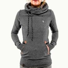 2019 New Hoodies For Women Solid Color Hooded Sweatshirt Long-sleeved Plus Size Causal Sweatshirts Ladies