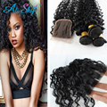 3 Bundles Deep Curly with Closure Brazilian Hair Unprocessed Virgin Hair Bundle Deals Bob Deep Curly Brazilian Hair with Closure
