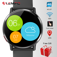 LEMFO LEM X Android Smart Watch Phone 4G LTE 1GB + 16GB 2.03 Screen GPS Wifi Men Smartwatch with 8MP Camera 900mAh Battery