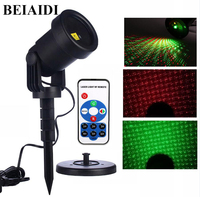 BEIAIDI Waterproof Moving Full Sky Star Laser Projector Light Outdoor Red Green Garden Christmas Landscape Decorative