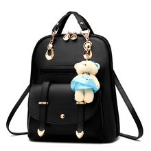 цены 2018 famous brand Women Backpack PU Leather School Bags For Teenagers Girls Leisure Backpacks Female Rucksack vintage daypack