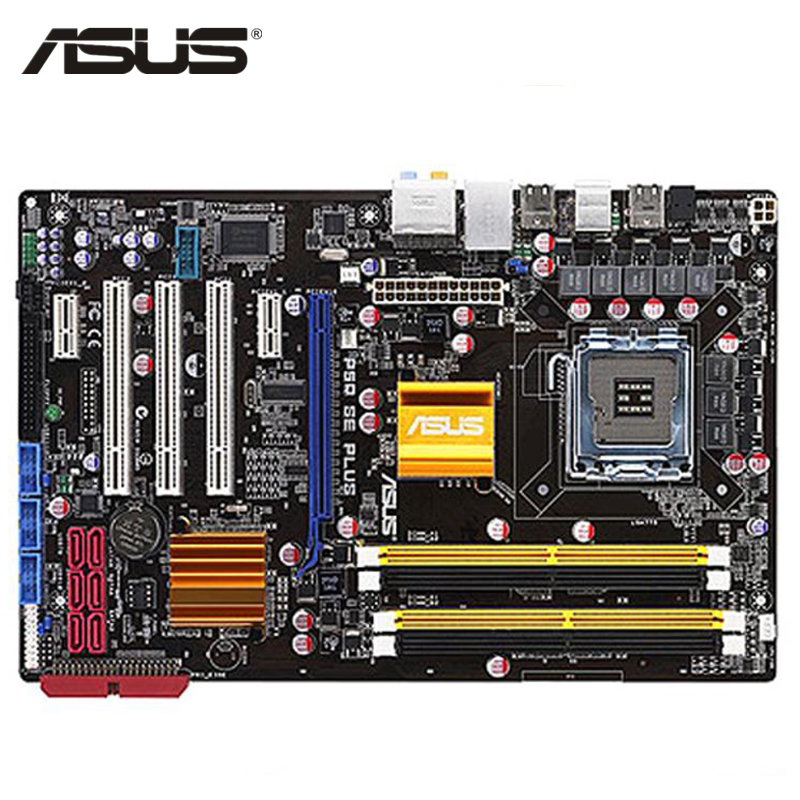 ASUS P5Q SE Plus Motherboard LGA 775 DDR2 16GB For Intel P45 P5Q SE Plus Desktop Mainboard Systemboard SATA II PCI-E X16 Used