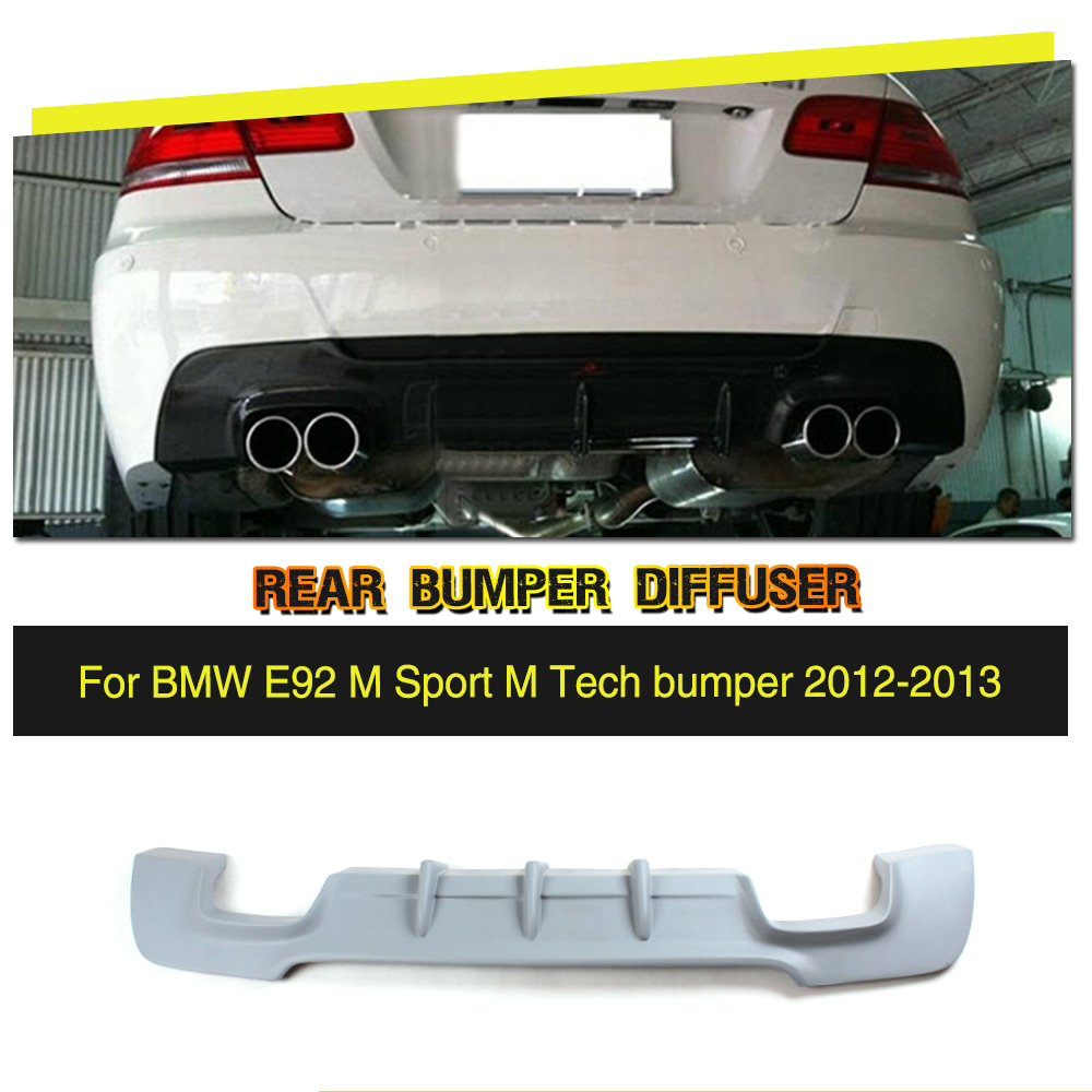 Car-styling FRP Grey Rear Bumper Lip Diffuser For BMW 3 Series 335i E92 E93 M sport Coupe Convertible bumper only 2012 2013 3 serier carbon fiber rear diffuser spoiler for bmw e92 e93 m sport coupe convertible 2005 2011 335i grey frp new style
