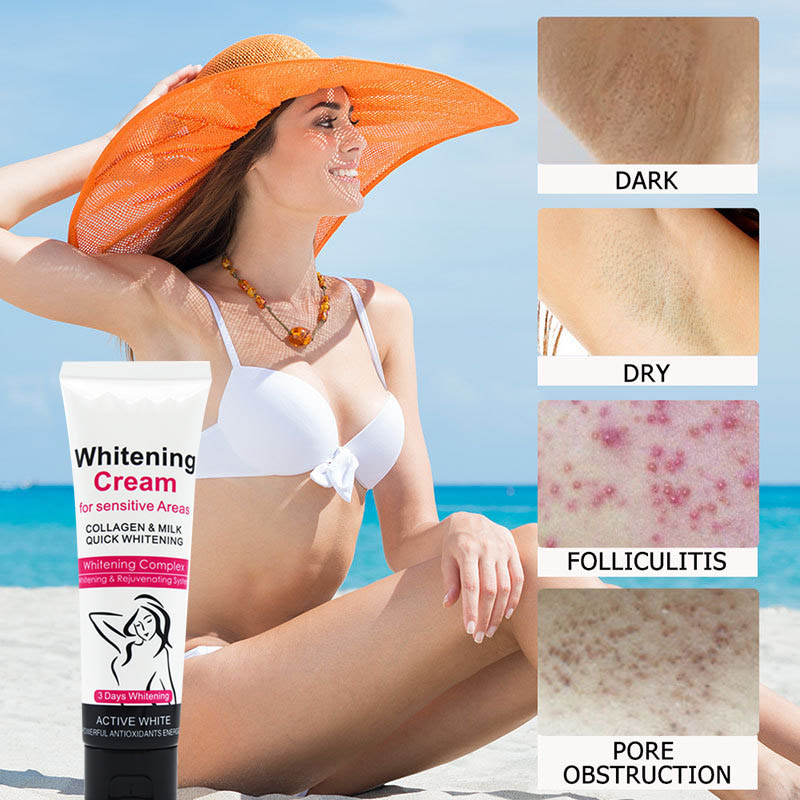 2020 Armpit Underarm Whitening Cream Body Whitening Cream Legs Knees Private Parts Cosmetics Body Lotion cream Skin Care TSLM2|Facial Self Tanners & Bronzers|   - AliExpress