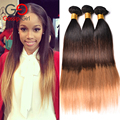 7A Ombre Brazilian Hair 1B /4/27 Straight Human Hair Brazilian Virgin Hair 3 Bundles Ombre Virgin Hair Gossip Girl Products