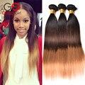 7a cabelo brasileiro ombre 1b/4/27 cabelo brasileiro virgem do cabelo humano em linha reta 3 pacotes ombre cabelo virgem gossip girl produtos