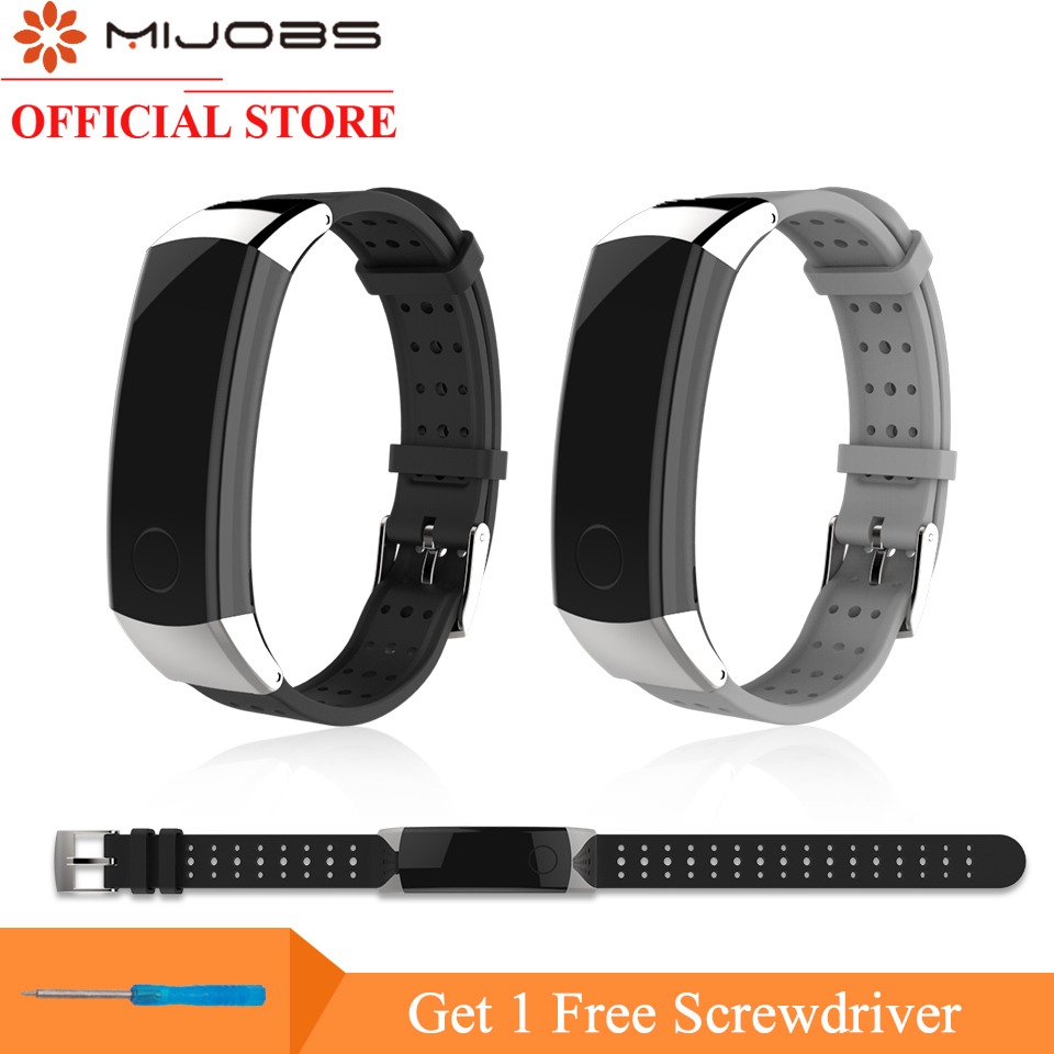 Mijobs 22cm TPU Soft Srap for Huawei Honor Band 3 Standard Edition Wrist Band Smart Watch Bracelet Honor 3 Replace Accessories