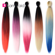 Sambraid New Jumbo Braids Ombre Crochet Hair Pre-Stretched Easy Braid synthetic Extensions 24inch For Women