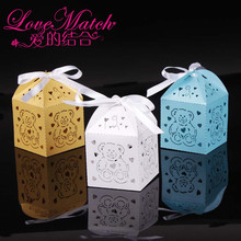 50Pcs Laser Cut Cute Bear Boxes Baby Shower Favors,Kids Birthday Party Gift Box Chocolate Box and Party Decoration for Baby Gift