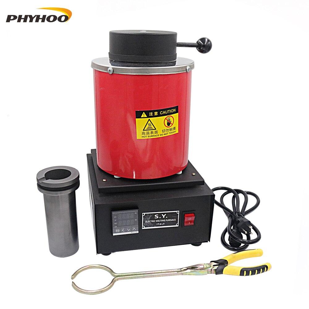 2KG mini melting furnace, metal melting furnaces, small melting furnace 220v 110v