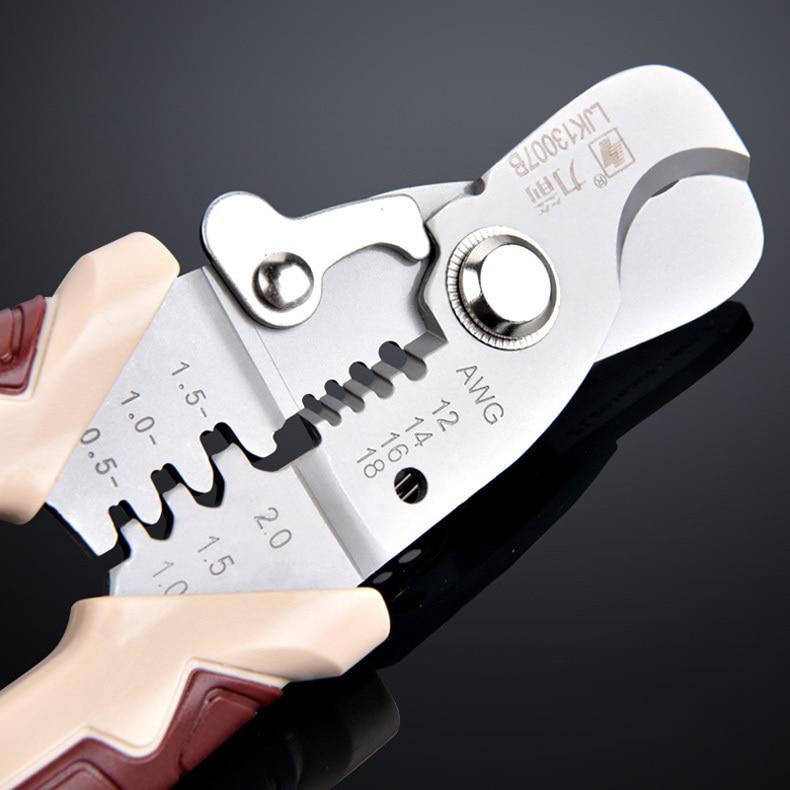 Multifunkční kabelové odizolovací kleště krimpování elektronické automatické kleště nůžky řezačka síťový ruční nástroj