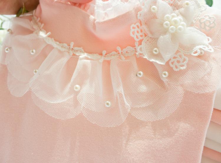 HTB1GweSLXXXXXbBaXXXq6xXFXXXz - 2017 Autumn Girls Turtleneck T-Shirt Cotton Children White Pink Shirts Baby Girls Clothing Long Sleeve Bottom Tops For Kids
