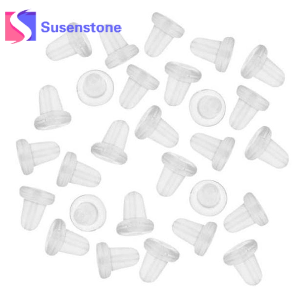 c55aca8ab 150Pcs/Set Wholesale Useful Findings Clear Soft Silicone Rubber Earring  Backs Safety Stopper Earnut For Stud Earrings Ship Free